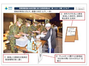 自衛隊から示されたイメージ図