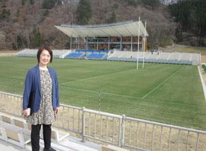 ラグビーワールドカップの会場となる釜石市の鵜住居復興スタジアムで