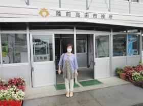 今も仮設の岩手県陸前高田市役所で