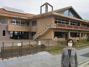 宮城県山元町の震災遺構「中浜小学校」で