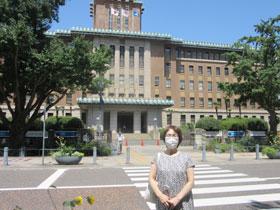研修会の案内のため訪問した神奈川県庁で