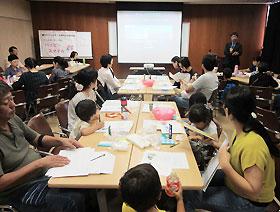 参加者全員で実習を行った「スキンケア講座」